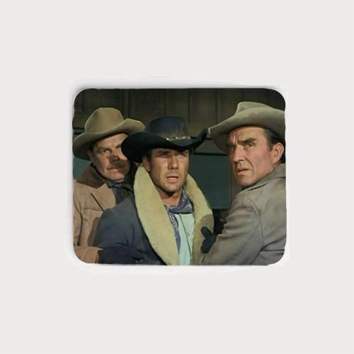 Let Me At Him! Robert Fuller neoprene mouse pad - from the Fugitives episode of Laramie.