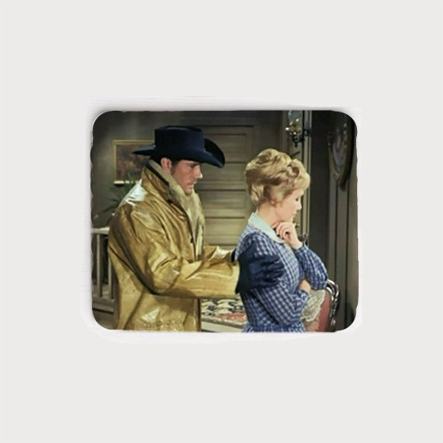 Robert Fuller neoprene mouse pad -  Jess with Mira from The Fugitives episode of Laramie