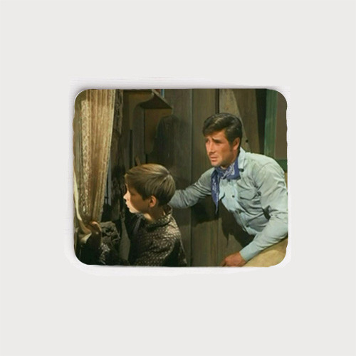 Robert Fuller neoprene mouse pad - You're in Trouble Now Jess! The Fugitives episode of Laramie