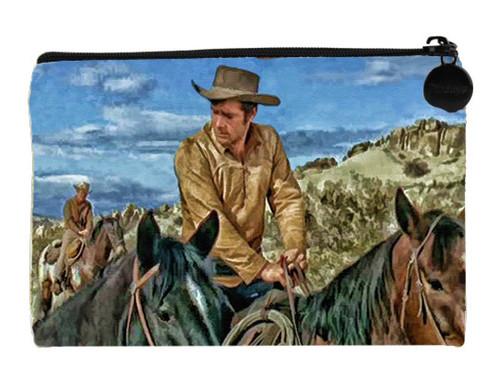 Robert Fuller Small linen bag - Matt Martin  with horses - from Incident at Phantom Hill