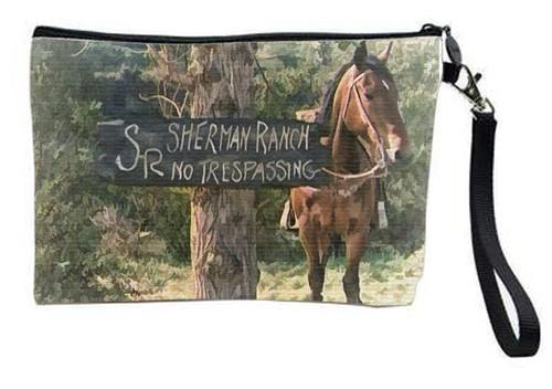 Robert Fuller Large zippered bag-No Trespassing