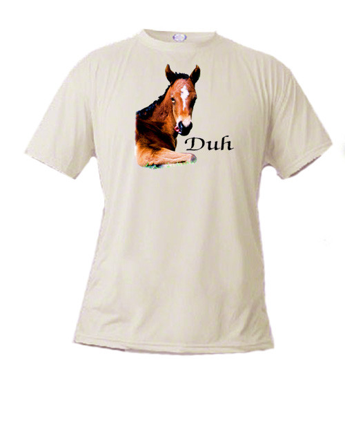 A fun silly t-shirt for kids who love horses - Duh