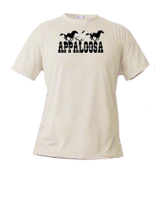 Kid's t-shirt - Appaloosa horses gallop across the shirt