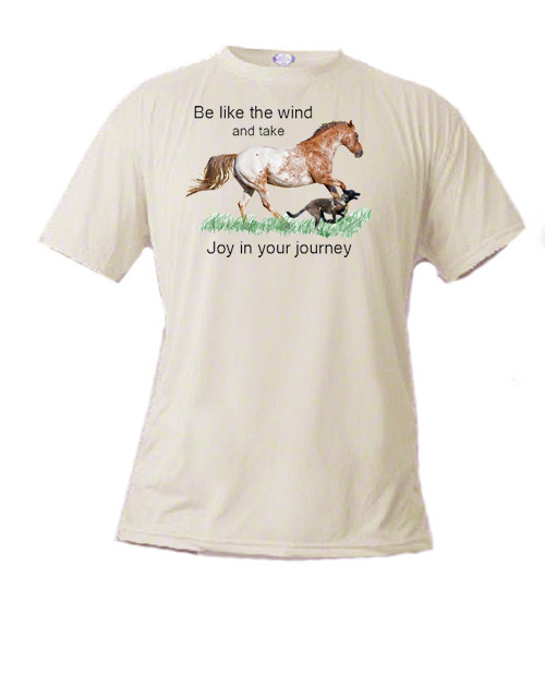 Kid's t-shirt, Be like the wind and take joy in your journey