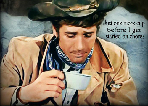 Robert Fuller Hardboard table placemat - Just one more cup
