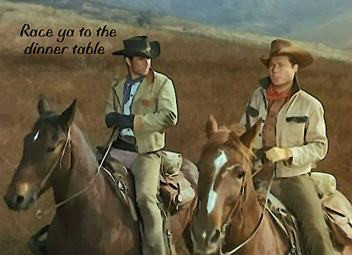 Robert Fuller Hardboard table placemat -  Race ya to the dinner table