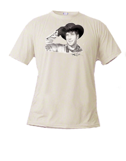 Robert Fuller basic t-shirt - Jess of Laramie with signature by Robert Fuller