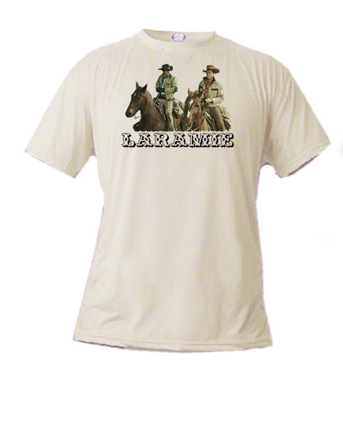 Robert Fuller Laramie T-shirt --- Slim and Jess on horseback