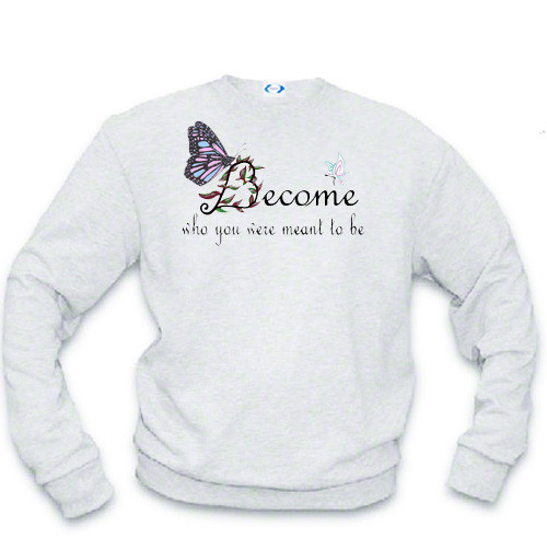 LGBTQ transgender sweatshirt: Become who you were meant to be