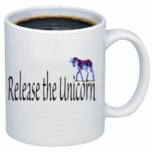 LGBTQ coffee mug: Release the Unicorn