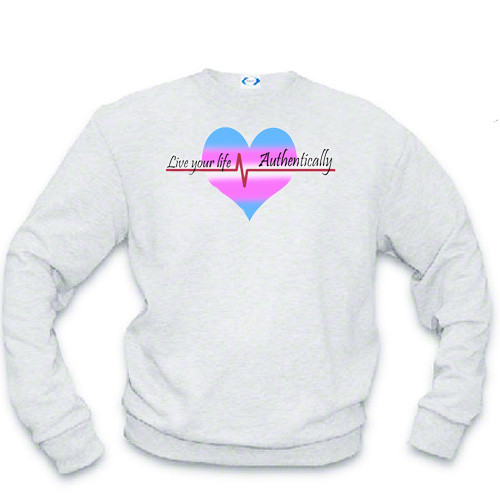 LGBTQ Sweatshirt: Live Your Life, Authentically