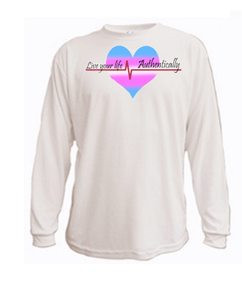 LGBTQ long sleeved t-shirt: Live Your Life, Authentically