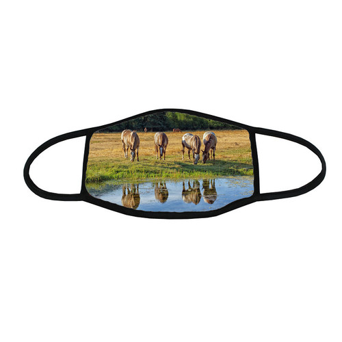 Horse/Equine Face Mask - At the Water Hole