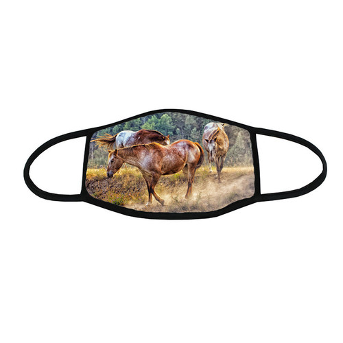 Dusty Trail equine lover's face mask