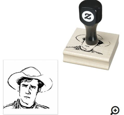 Wood handled rubber stamp - Coop