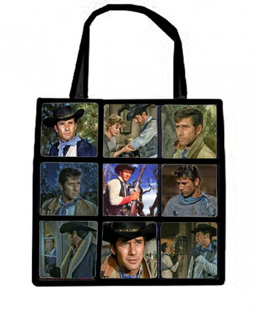 Plush nine panel tote bag-Laramie