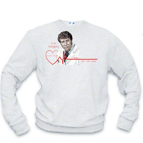 Dr. Kelly Brackett - Heartbeat Emergency sweatshirt - Keep Calm, well not that calm