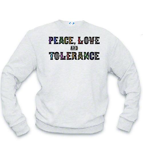 LGBTQ Sweat shirt - Peace, Love and Tolerance