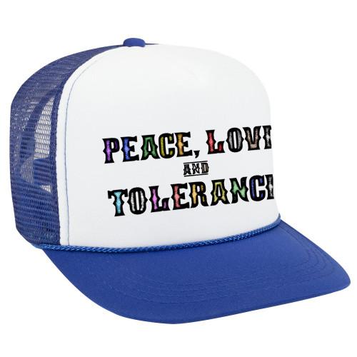 LGBTQ Ball Cap - Peace, Love and Tolerance
