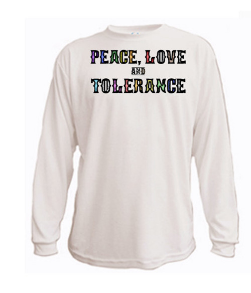 LGBTQ long sleeved T-shirt - Peace, Love and Tolerance