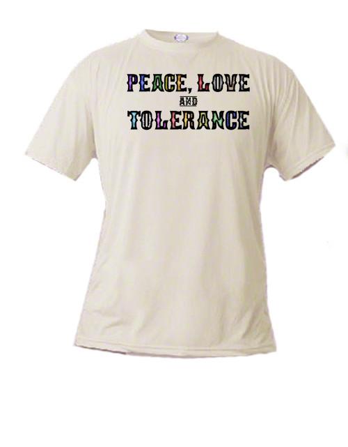 LGBTQ t-shirt    Peace, Love and Tolerance