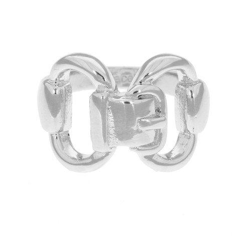 Sterling silver Bit and Buckle Ring