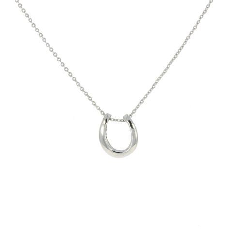 Sterling Silver Deep Horseshoe Pendant & chain