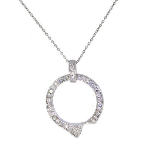 Sterling Silver Farriers Nail & Swarovski Crystal Pendant & chain