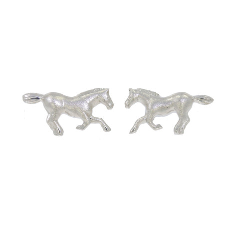 Silver Horse Stud Earrings - ER18