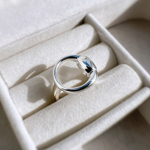 Sterling silver Single Snaffle Ring