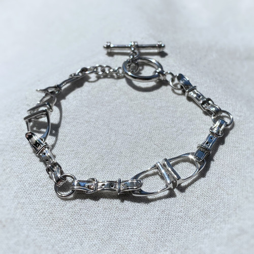 Sterling Silver Two Stirrup Bracelet