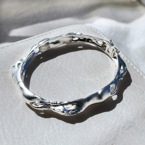 Sterling Silver Galloping Horse Bangle