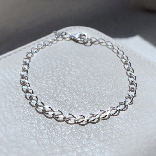 Sterling Silver Charm Bracelet (Light Weight)