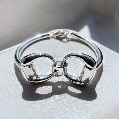 Sterling Silver Snaffle Bangle
