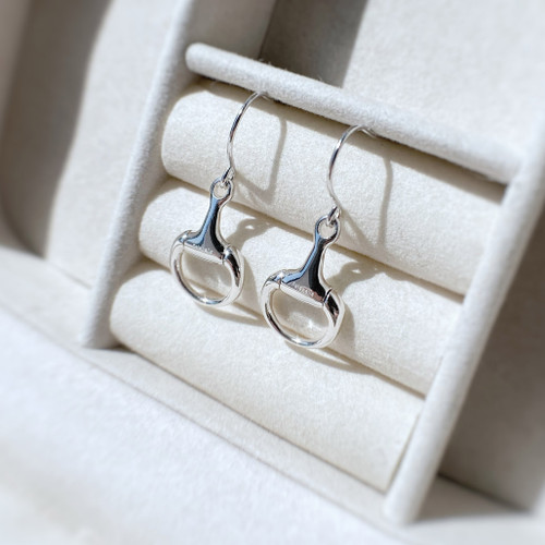 Sterling Silver Small Snaffle Earrings
