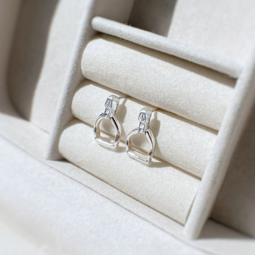 Sterling Silver Stirrup Earrings