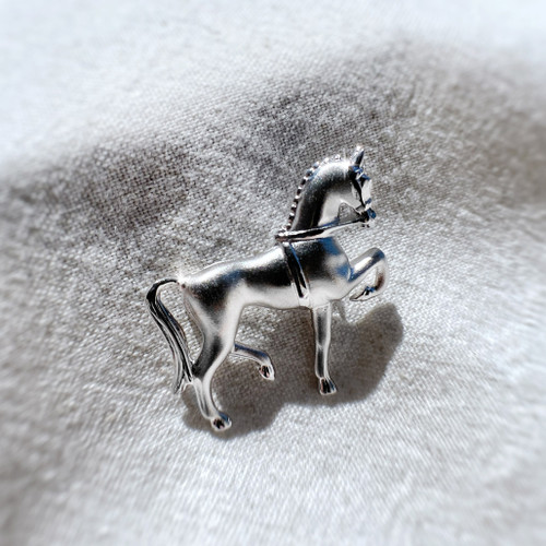 Sterling silver Dressage Horse Brooch