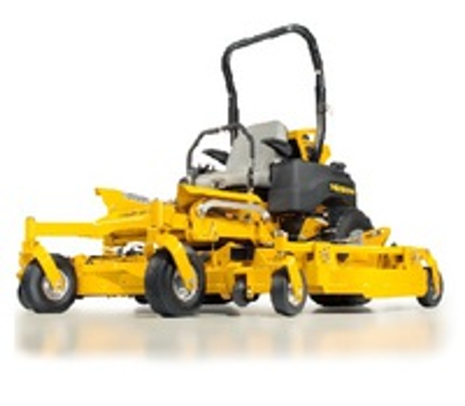 Hustler Super 104 increases productivity with increased mowing capacity.