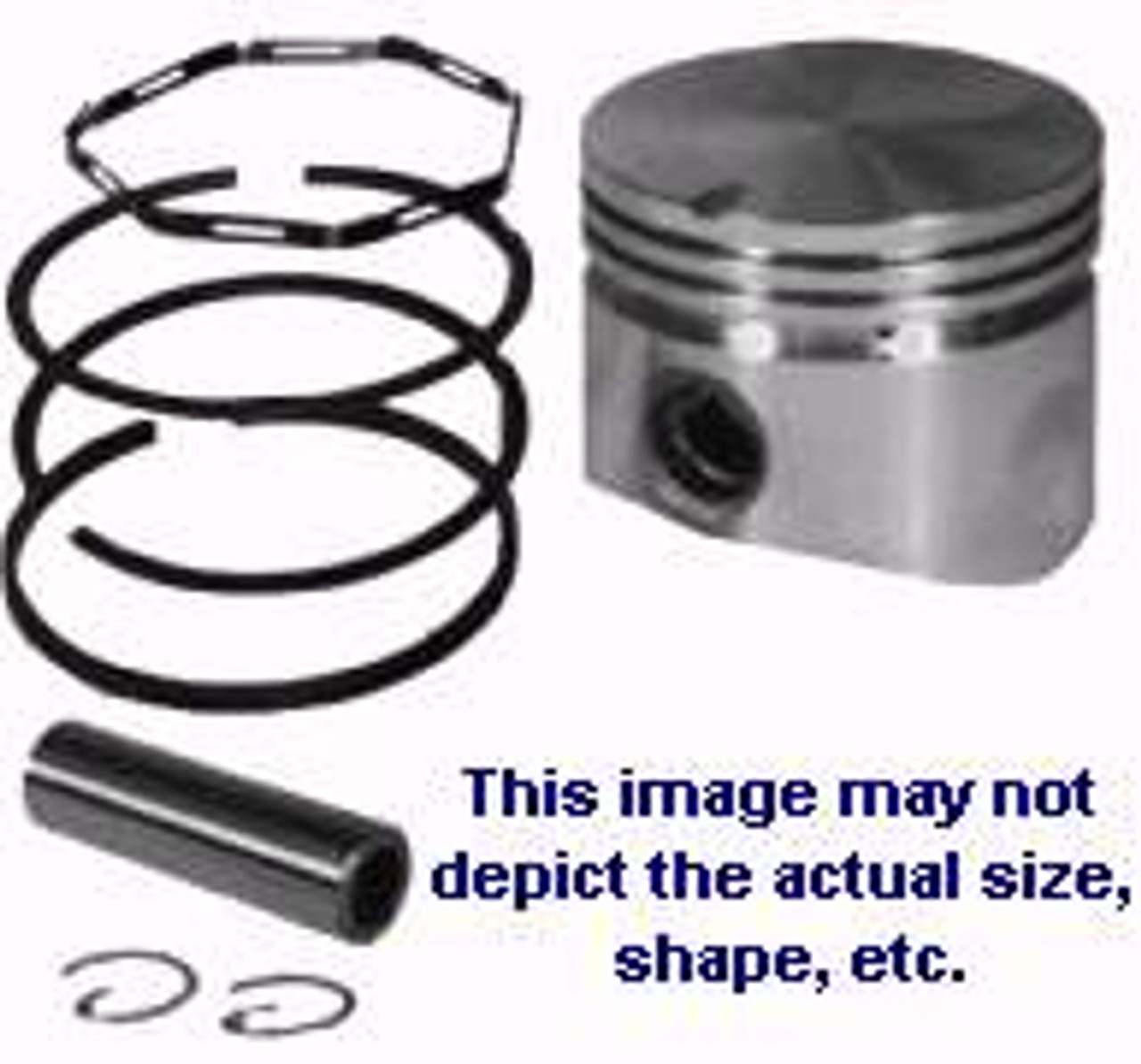 .010 Fits 3-1//2hp /& 5hp 2722 Fits Briggs and Stratton 298905 Piston /& Ring Kit