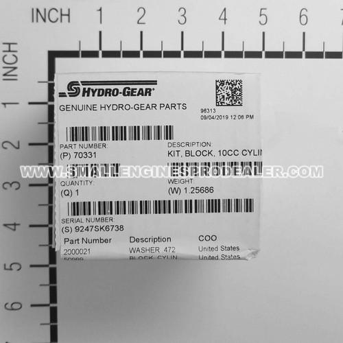 HYDRO GEAR 70331 - KIT BLOCK 10CC CYLINDER - Image 8