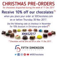 Pre-Ordering Christmas Chocolates