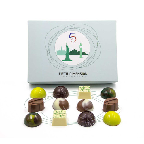 Explorer box of 12 chocolates