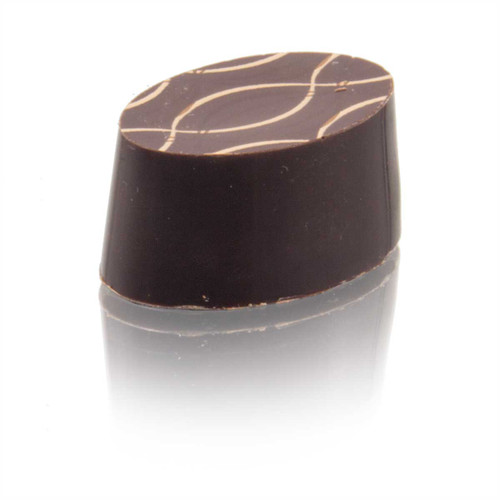 Salt & Malt Caramel made with Panela Sugar and enrobed in Dark Chocolate