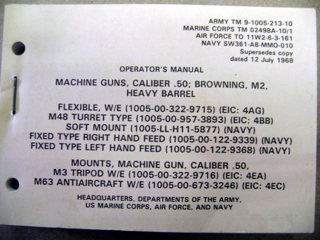 Browning .50 cal. Operator's Manual
