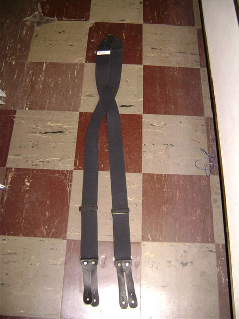 "2"" Suspenders with Leather Button End"