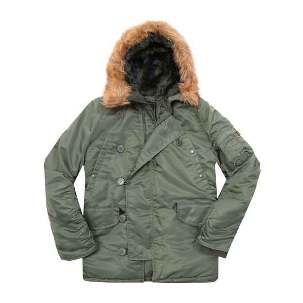 Alpha Industries N3B Parka in Sage Green