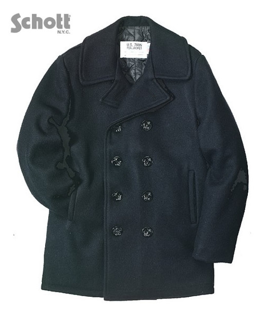 Men's U.S. Navy Peacoat by Schott Brothers