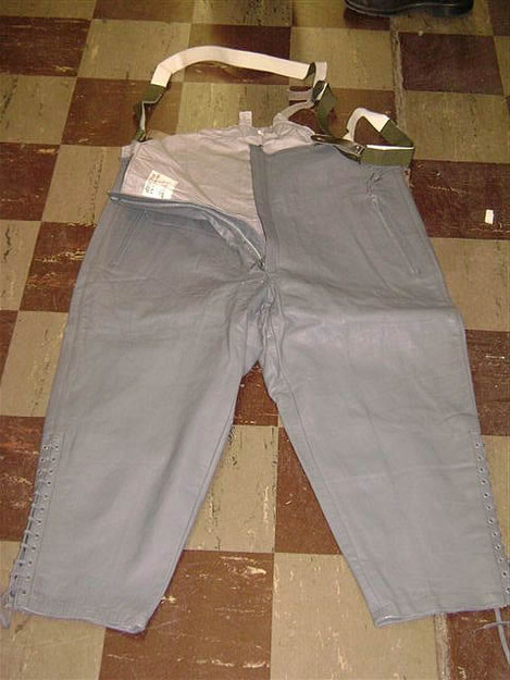 German Military Submarine Pants with Suspenders
