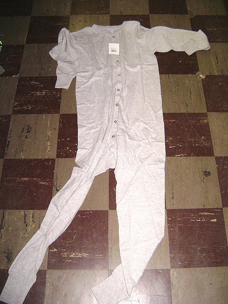 100% Cotton Gray Union Suit