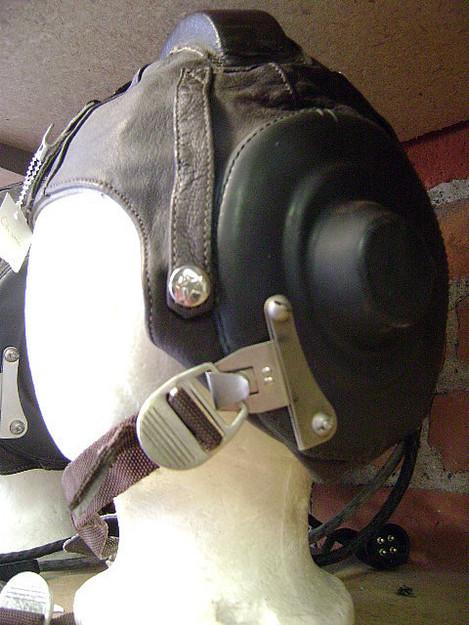 Chinese Leather Flight Helmet